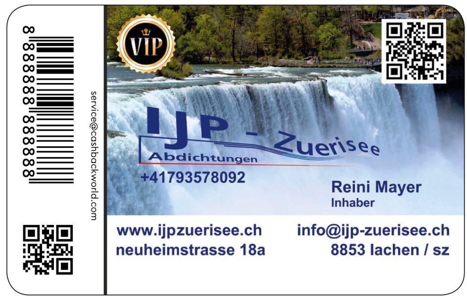 IJP Zuerisee Cashback Card / Cashback Karte